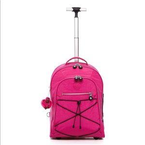 Kipling   Sausalito Wheeled Luggage Backpack Pink